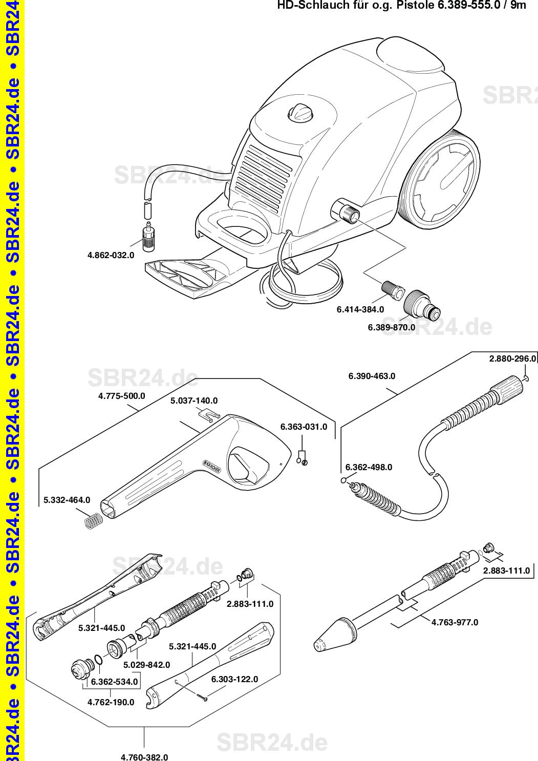Kärcher Ersatzteile K 520m Eu 1069 1200