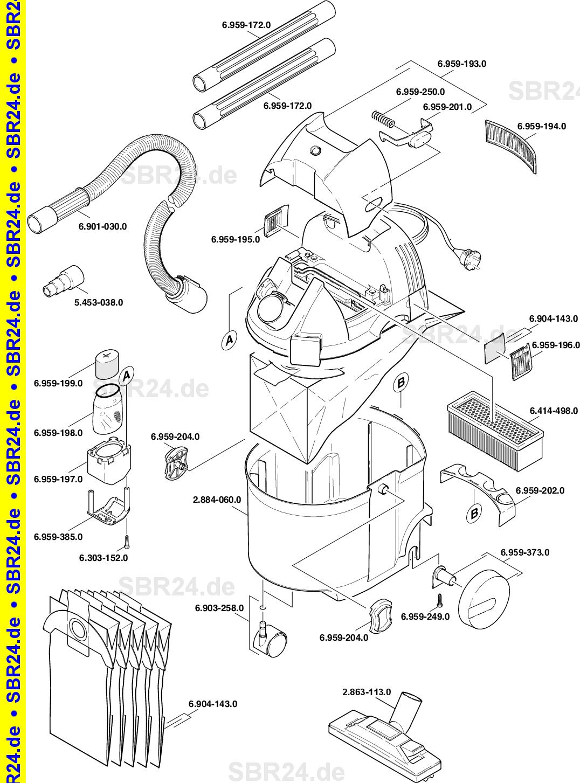 Kärcher Ersatzteile K 2501 Te Eu 1080 9010