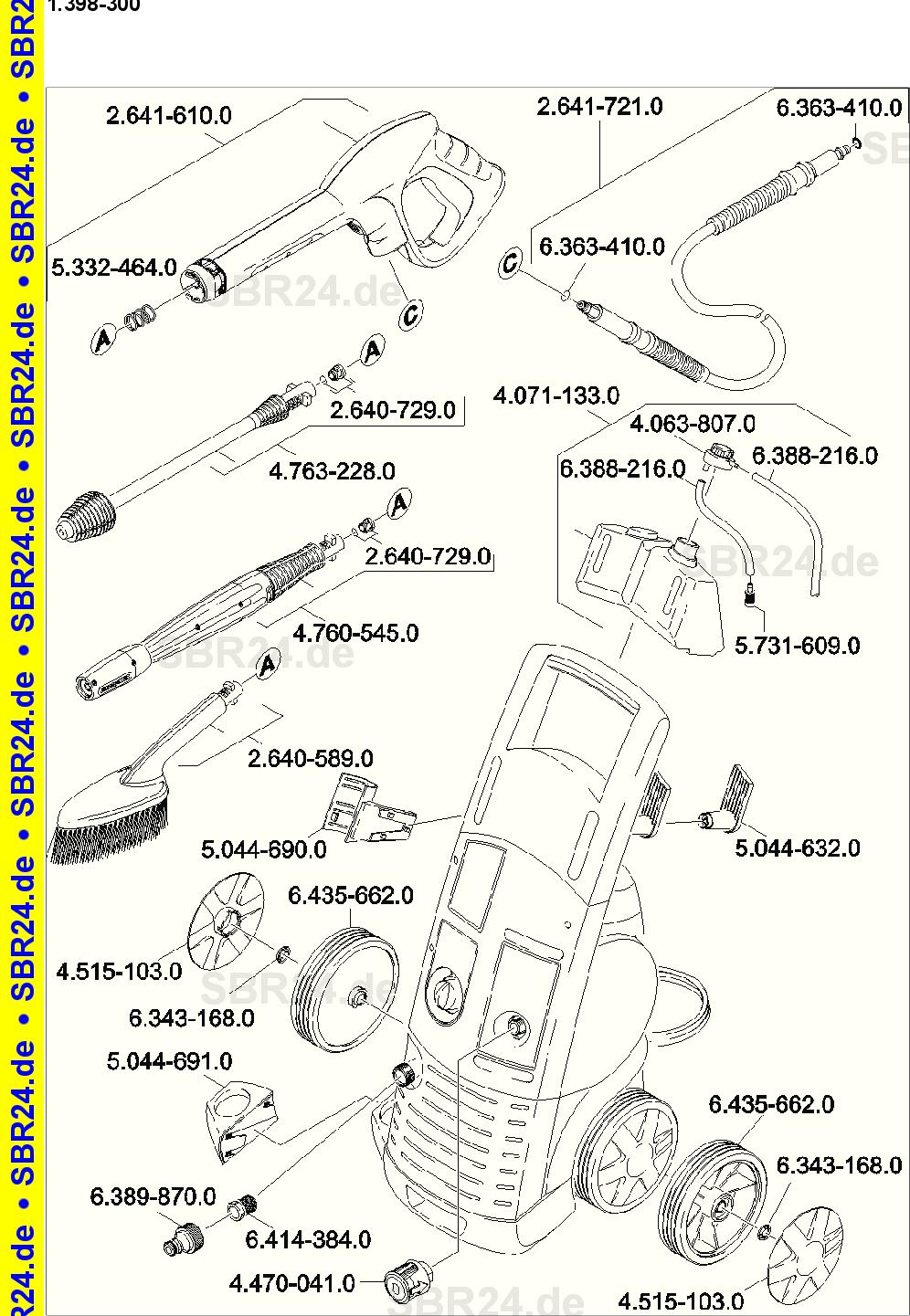 /347.0/Radkappe Set nur f/ür Ersatz Karcher 4.515/