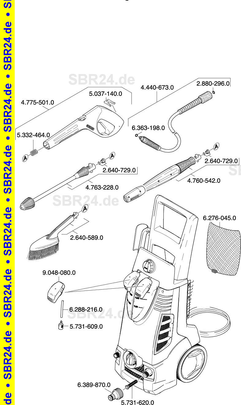 KARCHER Ersatzteile K 785 M SPECIAL 1398 6110