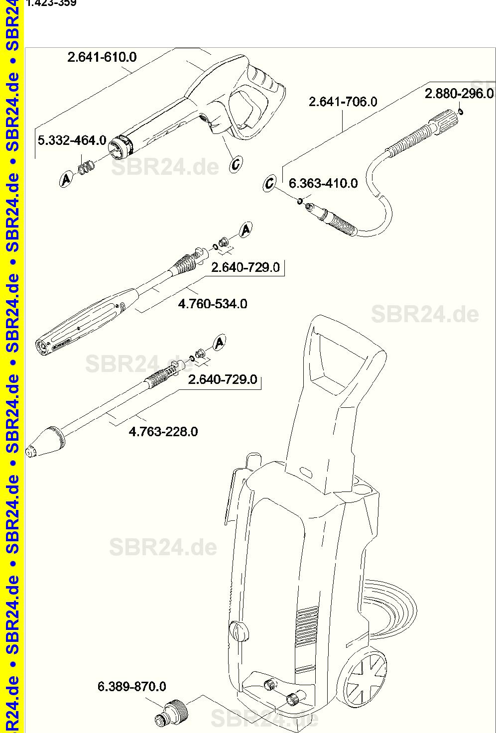 Kärcher Ersatzteile K 488m Pl T200 Eu 1423 3590