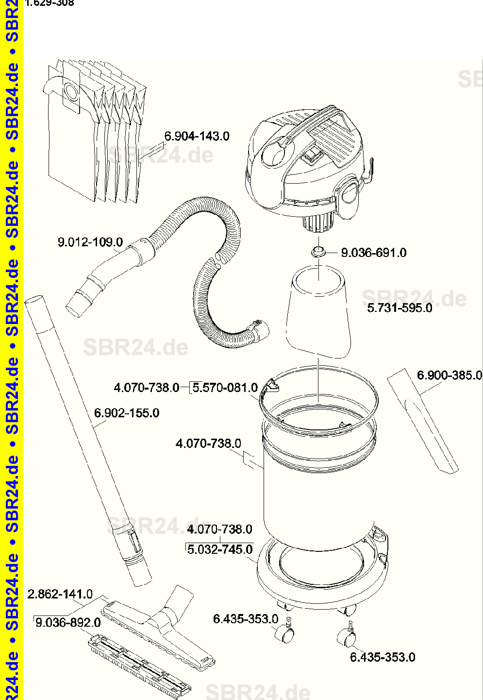 Kärcher Ersatzteile A 2120 Me Eu 1629 3080