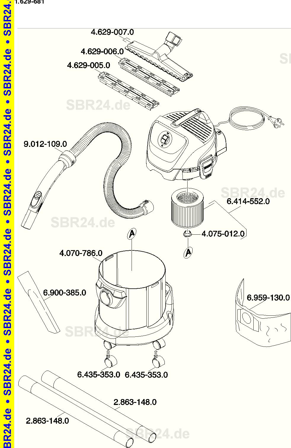 KÄRCHER Ersatzteile Kärcher WD 3.500 P 1.629-681.0