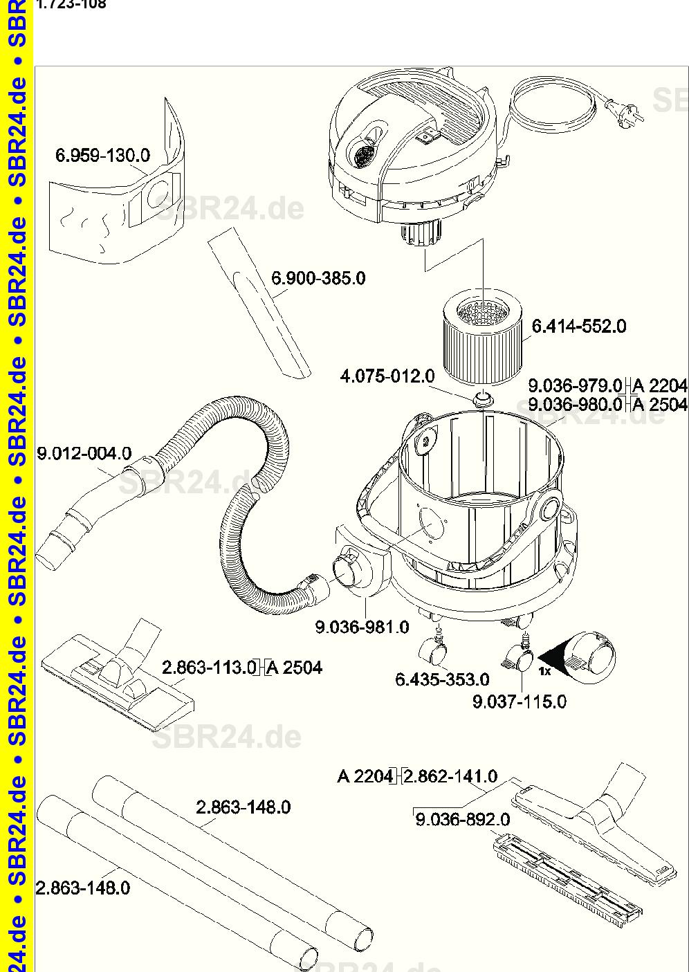 Ersatz-Patronenfilter für Kärcher A 2204 AF