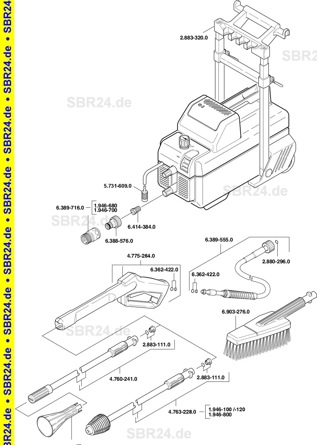 Kärcher Ersatzteile Kärcher 580 M 1946 1000