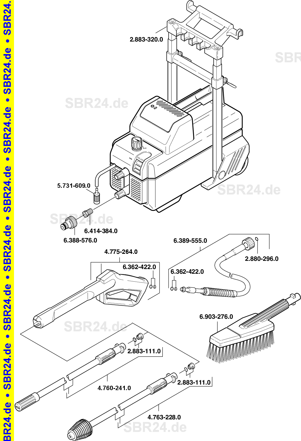 Super KÄRCHER Ersatzteile Kärcher 695 M 1.958-800.0 RT31
